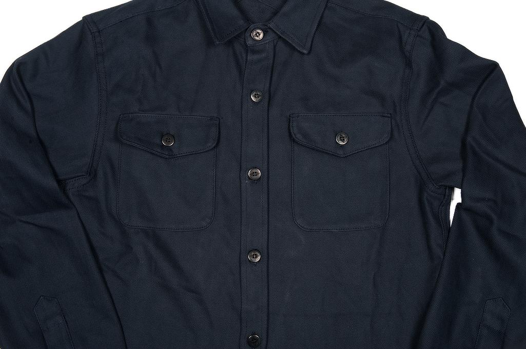3sixteen CPO Shirt - Navy Twill - Image 5