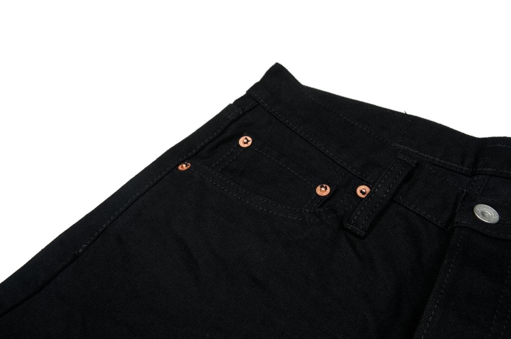 Iron Heart 777s-BB Jeans - Slim Tapered Black/Black Denim - Image 4
