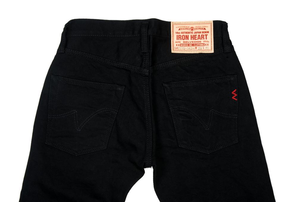 Iron Heart 777s-BB Jeans - Slim Tapered Black/Black Denim - Image 5