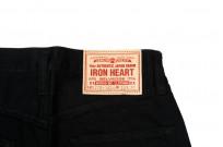 Iron Heart 777s-BB Jeans - Slim Tapered Black/Black Denim - Image 7