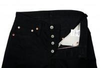 Iron Heart 777s-BB Jeans - Slim Tapered Black/Black Denim - Image 9