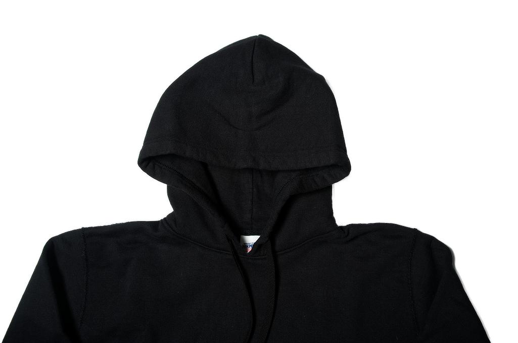 Iron Heart Ultra-Heavy Loopwheeled Hoodie - Pull-Over Black - Image 3
