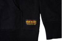 Iron Heart Ultra-Heavy Loopwheeled Hoodie - Pull-Over Black - Image 7