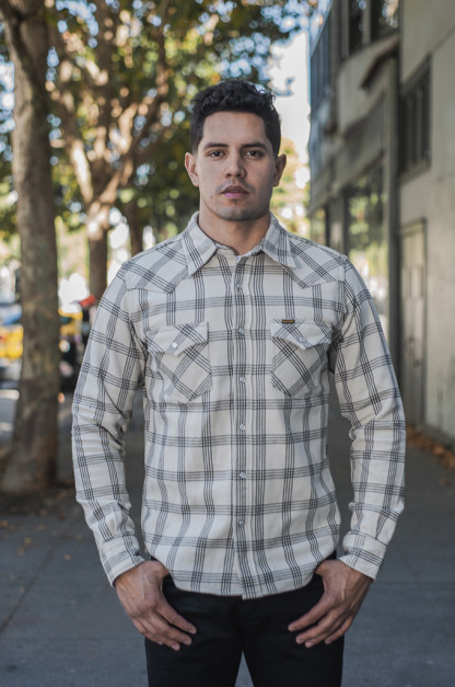 Iron Heart Ultra-Heavy Snap Flannel - Snow Gray