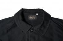Sugar Cane Moleskin French Work Jacket - Aged Black - Image 3