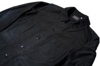 Sugar Cane Moleskin French Work Jacket - Aged Black - Image 5