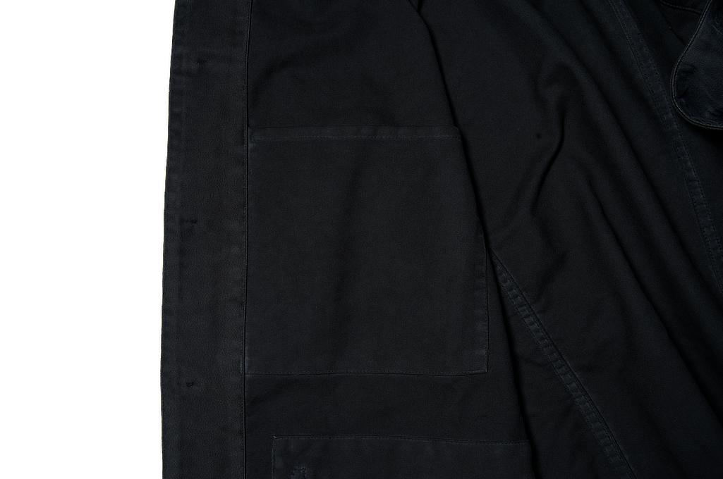 Sugar Cane Moleskin French Work Jacket - Aged Black - Image 7