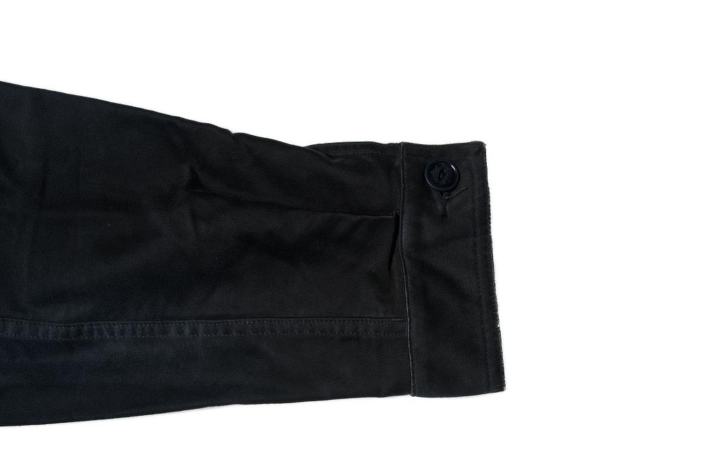 Sugar Cane Moleskin French Work Jacket - Aged Black - Image 8