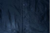 Sugar Cane Moleskin French Work Jacket - Aged Navy - Image 4