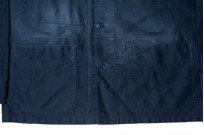 Sugar Cane Moleskin French Work Jacket - Aged Navy - Image 6