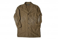 Sugar Cane Moleskin French Work Coat - Aged Khaki - Image 3