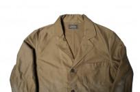 Sugar Cane Moleskin French Work Coat - Aged Khaki - Image 4