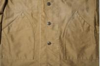 Sugar Cane Moleskin French Work Coat - Aged Khaki - Image 6