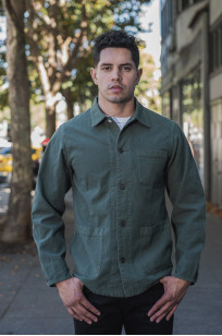 Seuvas No. 11 Canvas Coverall Jacket - Olive - Image 0