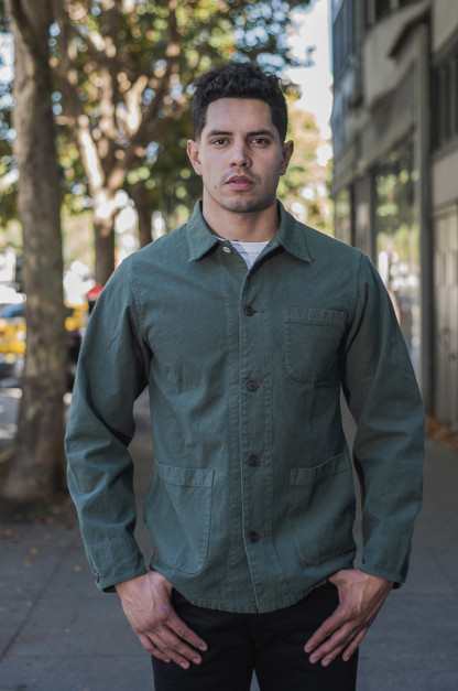 Seuvas No. 11 Canvas Coverall Jacket - Olive