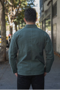 Seuvas No. 11 Canvas Coverall Jacket - Olive - Image 1