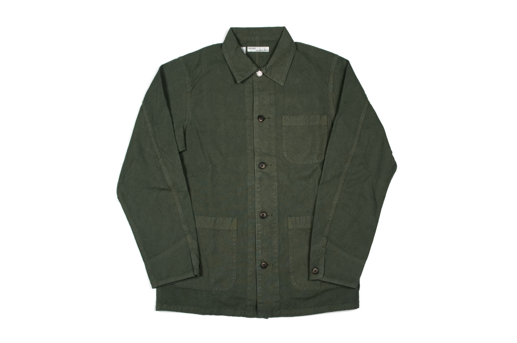 Seuvas No. 11 Canvas Coverall Jacket - Olive - Image 2
