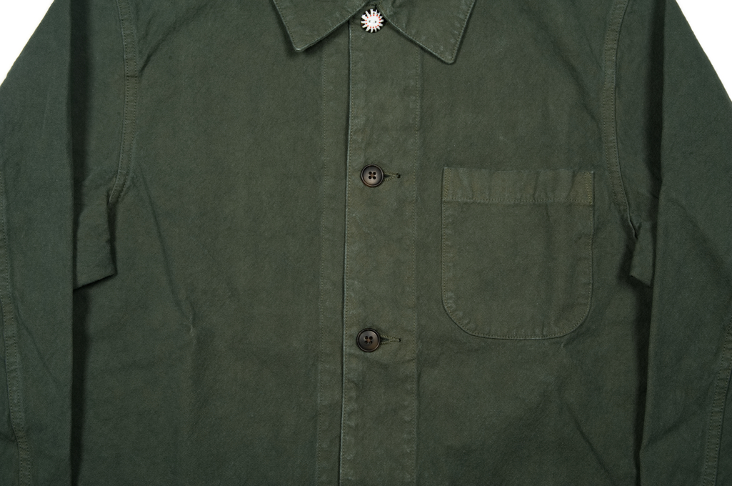 Seuvas No. 11 Canvas Coverall Jacket - Olive - Image 5