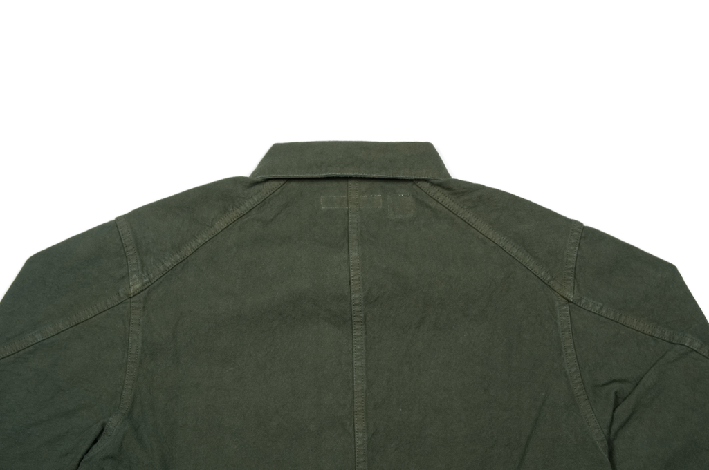 Seuvas No. 11 Canvas Coverall Jacket - Olive - Image 7