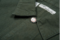 Seuvas No. 11 Canvas Coverall Jacket - Olive - Image 9