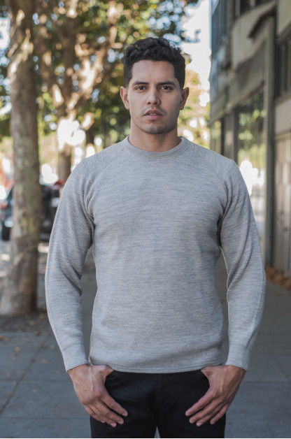 Stevenson Absolutely Amazing Merino Wool Thermal Shirt - Light Gray