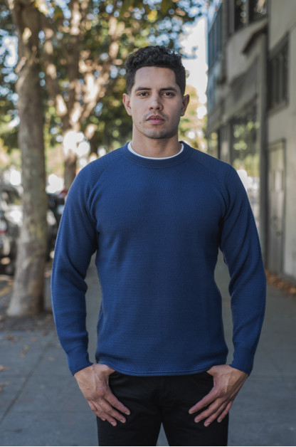 Stevenson Absolutely Amazing Merino Wool Thermal Shirt - Navy