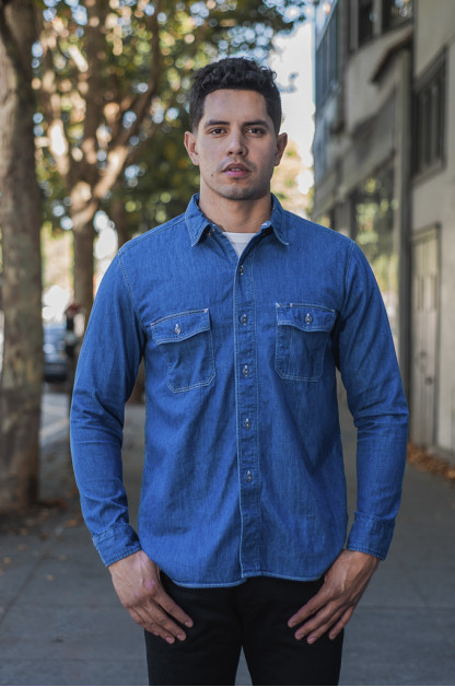 Stevenson Unionist Denim Shirt - Faded Indigo