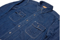 Stevenson Unionist Denim Shirt - Faded Indigo - Image 5