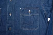 Stevenson Unionist Denim Shirt - Faded Indigo - Image 6