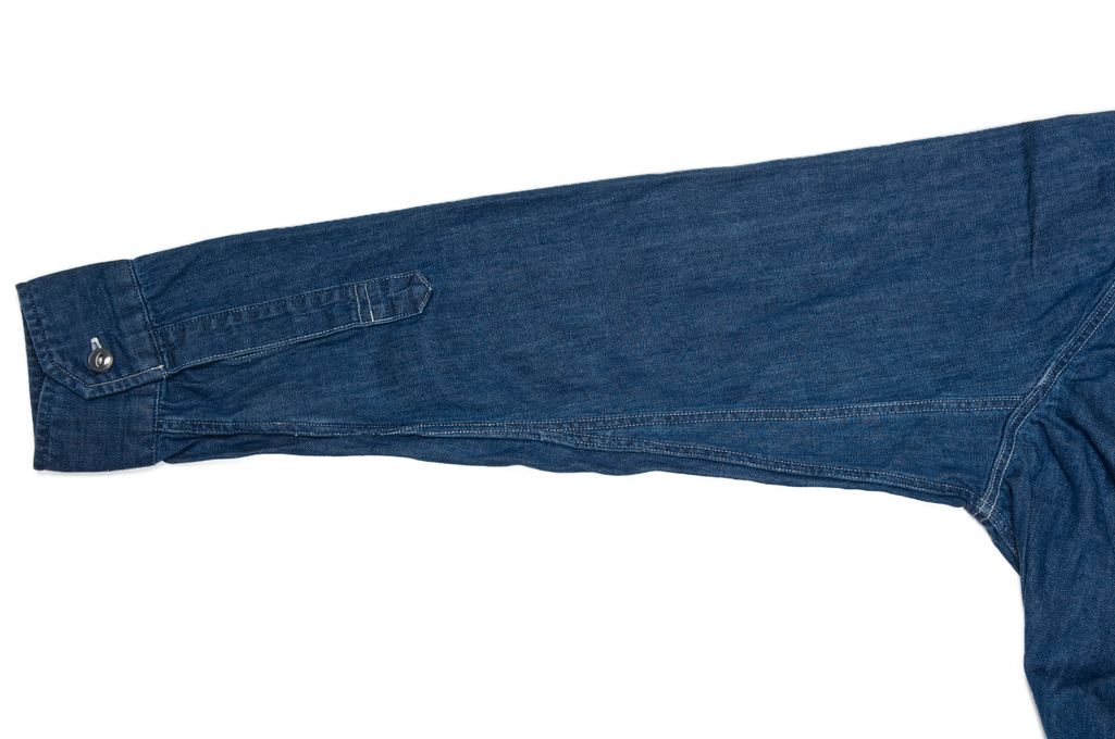 Stevenson Unionist Denim Shirt - Faded Indigo - Image 8