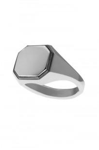 Neff Goldsmith Signet Ring - Silver w/ Plate & Milgrain - Image 1