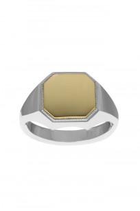 Neff Goldsmith Signet Ring - Sterling Silver & 18k Gold - Image 0