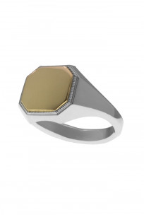 Neff Goldsmith Signet Ring - Sterling Silver & 18k Gold - Image 1