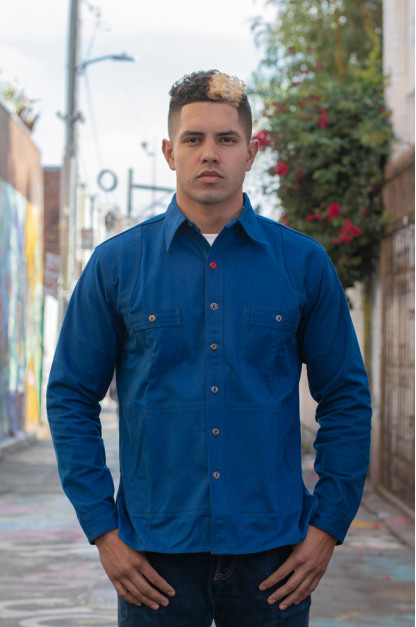 Mister Freedom Trailblazer Shirt - Prussian Blue