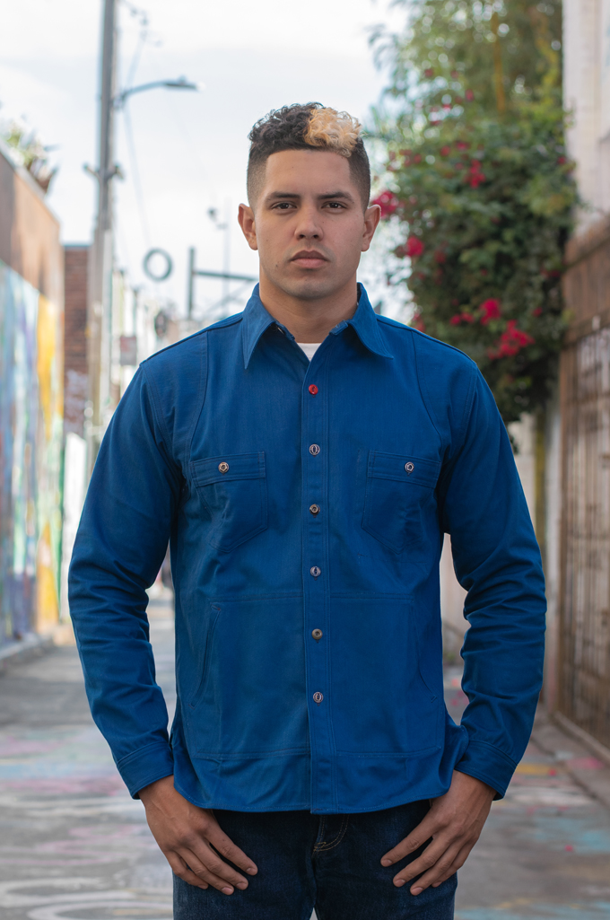 Mister Freedom Trailblazer Shirt - Prussian Blue - Image 0