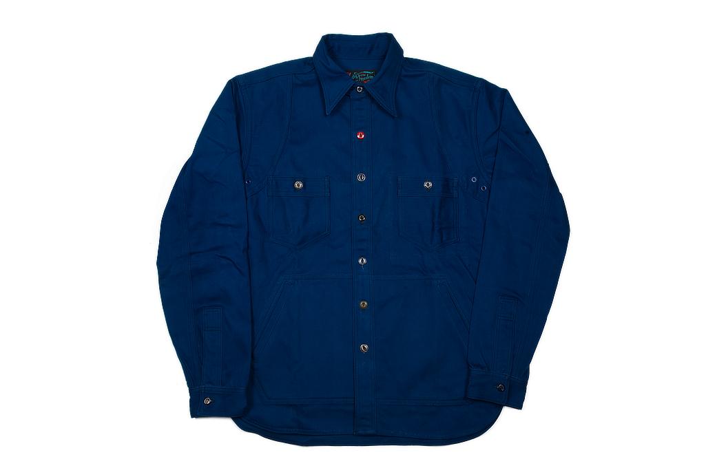 Mister Freedom Trailblazer Shirt - Prussian Blue - Image 7