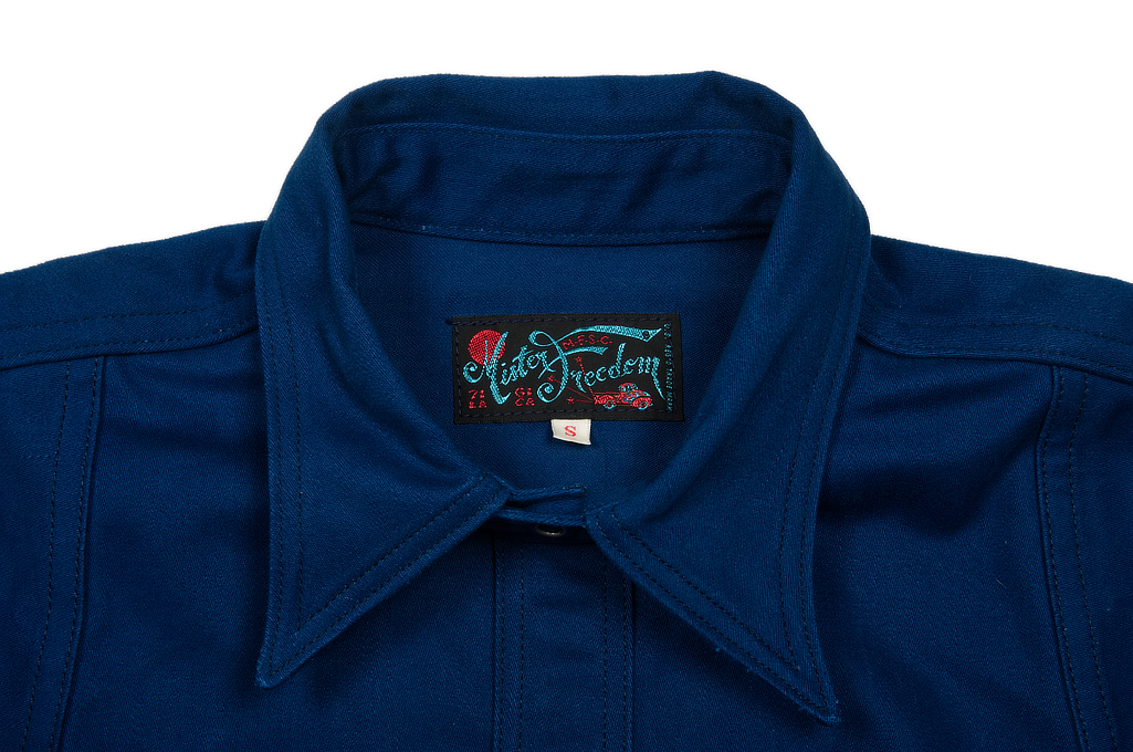 Mister Freedom Trailblazer Shirt - Prussian Blue - Image 9