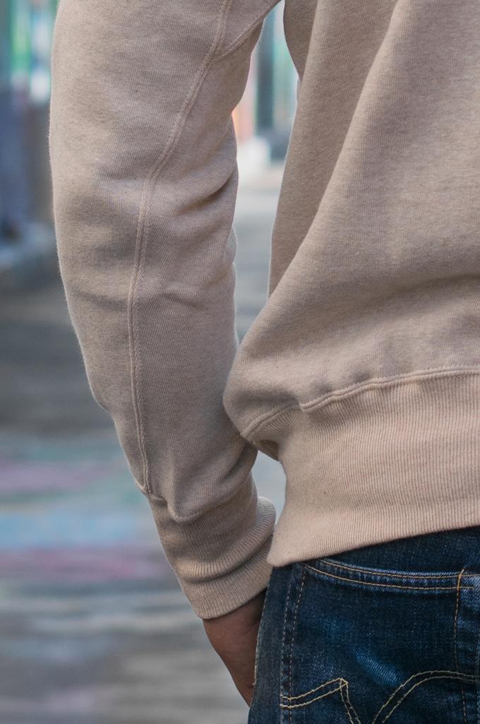 Warehouse Loopwheeled Set-In Freedom Crewneck Sweater - Oatmeal - Image 5