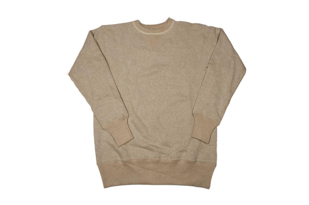Warehouse Loopwheeled Set-In Freedom Crewneck Sweater - Oatmeal - Image 6