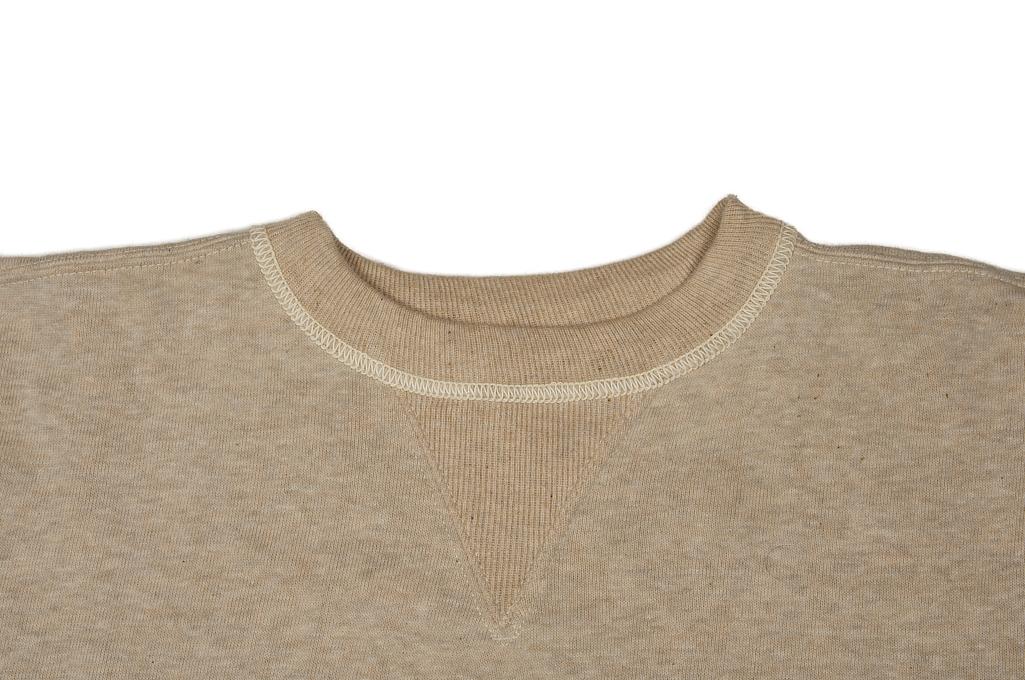 Warehouse Loopwheeled Set-In Freedom Crewneck Sweater - Oatmeal - Image 7