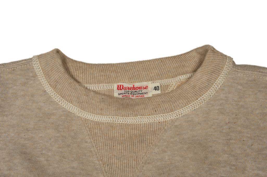 Warehouse Loopwheeled Set-In Freedom Crewneck Sweater - Oatmeal - Image 8