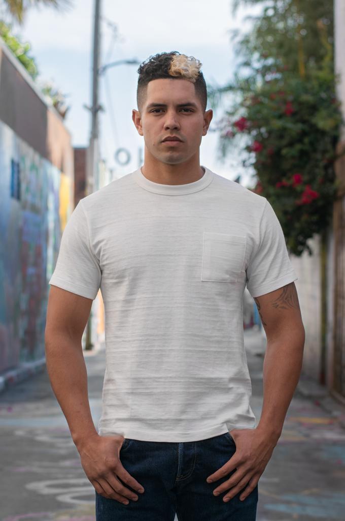 Warehouse Slub Cotton T-Shirt - White w/ Pocket - Image 0