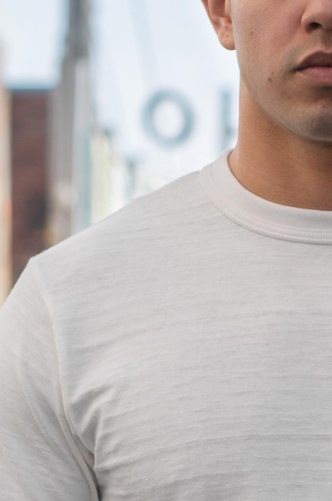 Warehouse Slub Cotton T-Shirt - White w/ Pocket - Image 1