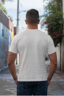 Warehouse Slub Cotton T-Shirt - White w/ Pocket - Image 4