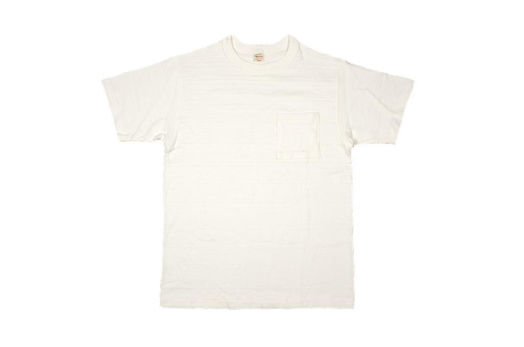 Warehouse Slub Cotton T-Shirt - White w/ Pocket - Image 5