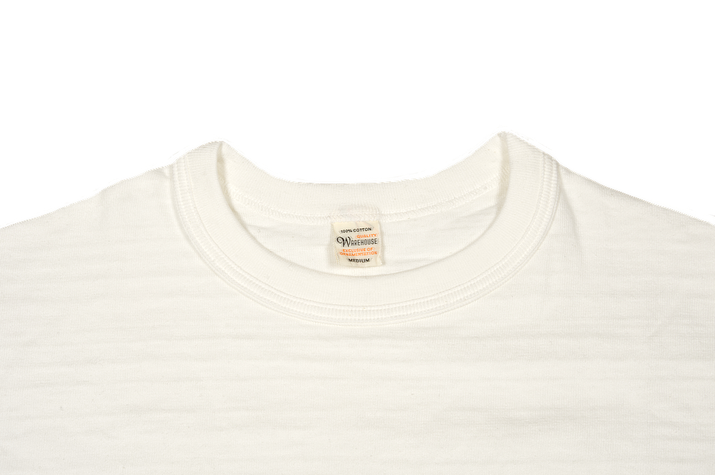 Warehouse Slub Cotton T-Shirt - White w/ Pocket - Image 6
