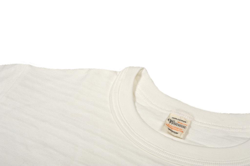 Warehouse Slub Cotton T-Shirt - White w/ Pocket - Image 7