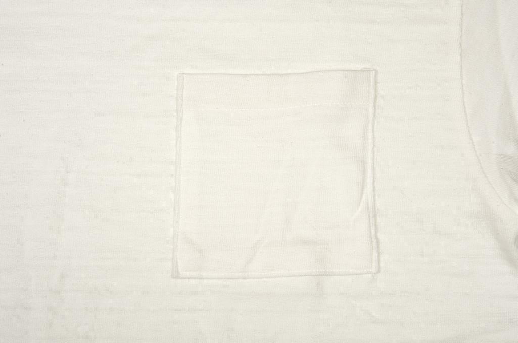 Warehouse Slub Cotton T-Shirt - White w/ Pocket - Image 8