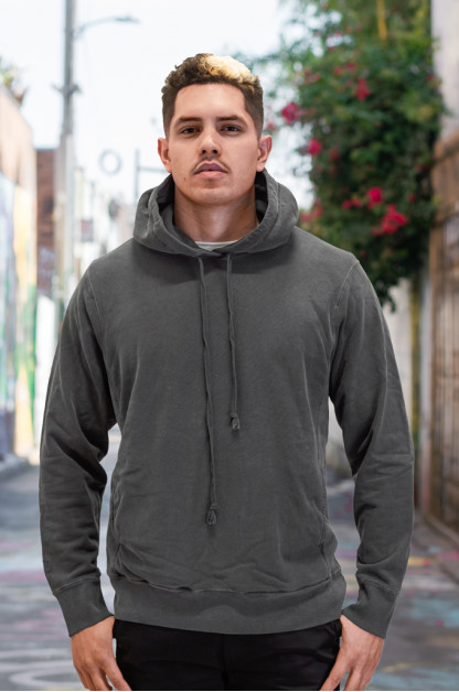 3sixteen for Self Edge Garment Dyed French Terry - Pull-Over Hoodie