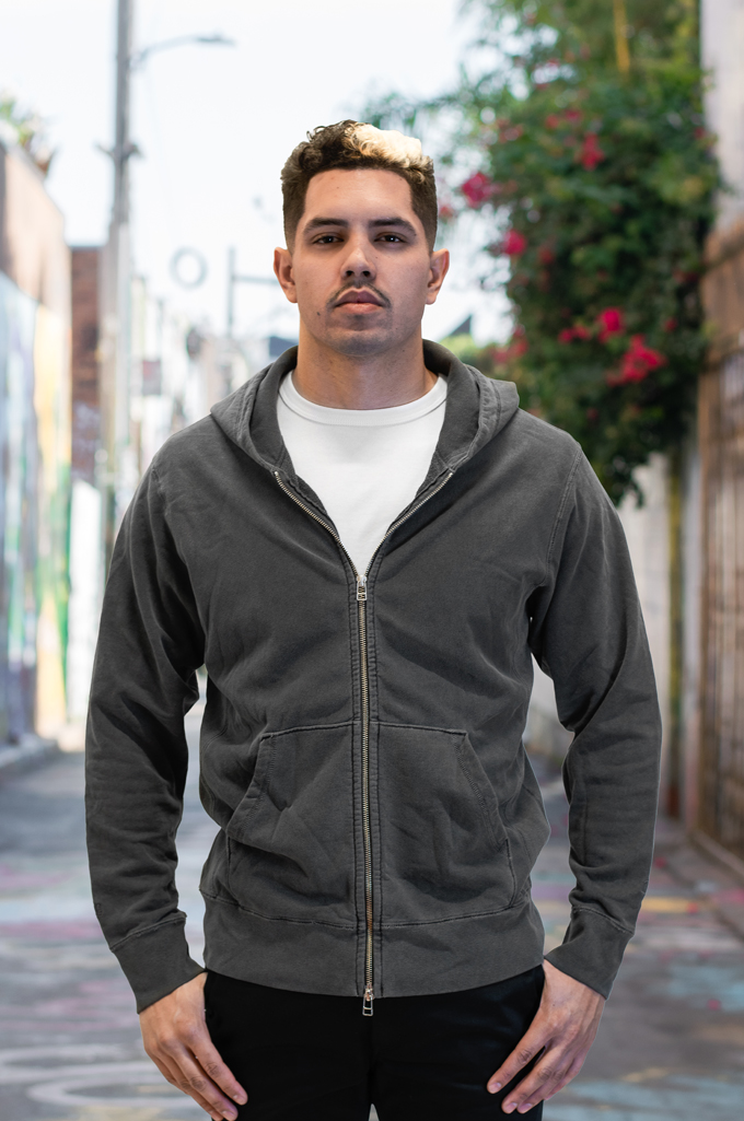 3sixteen for Self Edge Garment Dyed French Terry - Zip Hoodie - Image 2